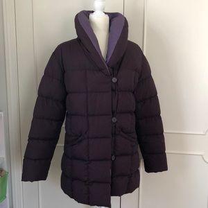 Vintage 80's purple down coat